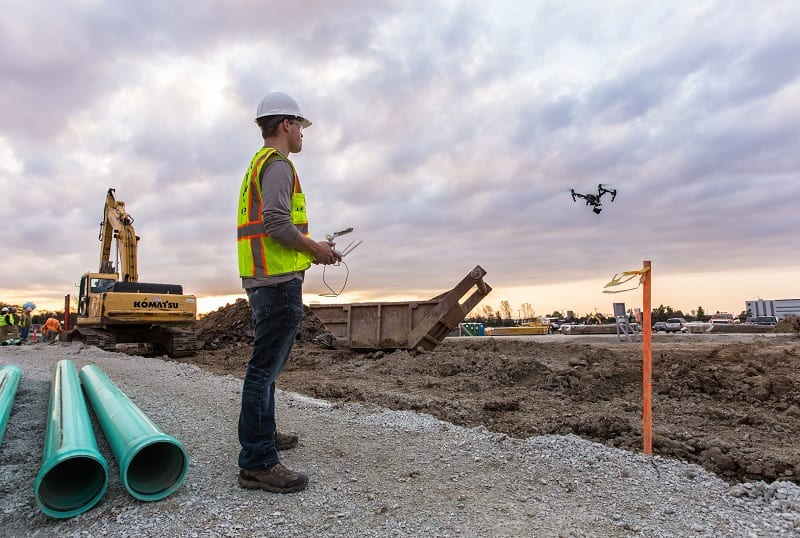 drone surveying construction